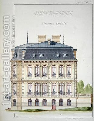 Side elevation of a house for the Bourgeoisie by H. Monnot - Reproduction Oil Painting
