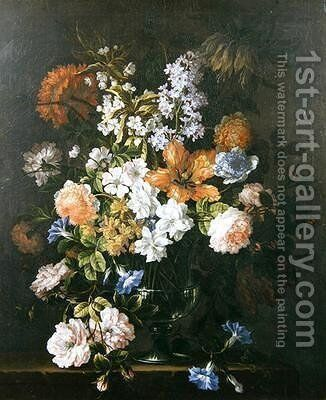 Still Life of Flowers 2 by Jean-Baptiste Monnoyer - Reproduction Oil Painting