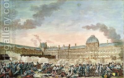The 10th August 1792 by (after) Monnet, Charles - Reproduction Oil Painting