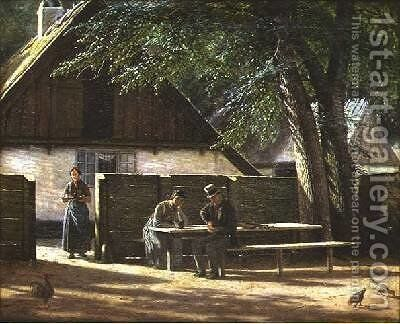Outside an Inn by Christopher Monies - Reproduction Oil Painting
