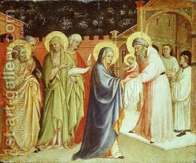 The Presentation in the Temple by del Isola d'Oro Monaco - Reproduction Oil Painting