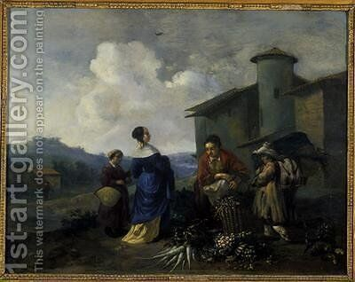 Vegetable Seller by Hendrik Mommers - Reproduction Oil Painting