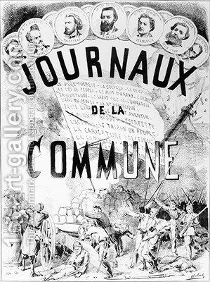 Newspapers of the Commune in Paris 1870-71 by Colomb B. Moloch - Reproduction Oil Painting