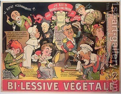 Poster advertising Bi-Lessive vegetale by Colomb B. Moloch - Reproduction Oil Painting