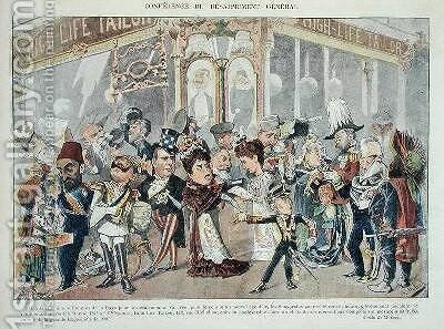 Advertisement for a Parisian clothes outfitters referring to the First Hague Peace Conference of 1899 by Colomb B. Moloch - Reproduction Oil Painting
