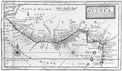A New and Exact Map of Guinea from A New and Accurate Description of the Coast of Guinea by Hermann Moll - Reproduction Oil Painting