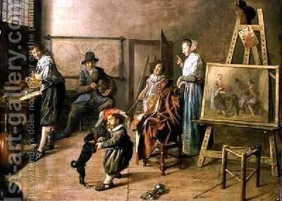 An Artists Studio 1631 by Jan Miense Molenaer - Reproduction Oil Painting