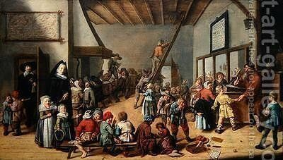 The School Room 1634 by Jan Miense Molenaer - Reproduction Oil Painting