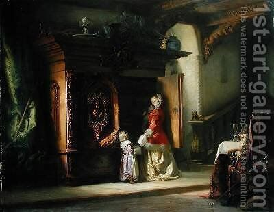 Interior 1853 by Bernhard Mohrhagen - Reproduction Oil Painting
