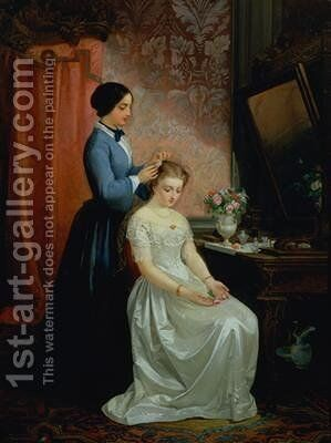 Preparing for the Ball 1894 by Giovanni Mochi - Reproduction Oil Painting