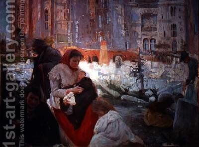 The Cathedral for the Poor 1897 by Joaquin Mir Trinxet - Reproduction Oil Painting