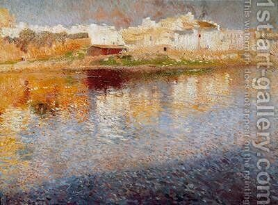 Reflections Majorca 1904 by Joaquin Mir Trinxet - Reproduction Oil Painting