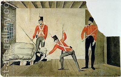 Sketch of Blighs Arrest by (attr.to) Minchin, William - Reproduction Oil Painting