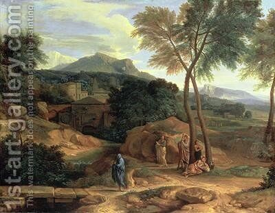 Landscape with Conopion Carrying the Ashes of Phocion by Jean Francois I Millet - Reproduction Oil Painting