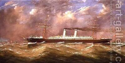The SS America by James Miller - Reproduction Oil Painting