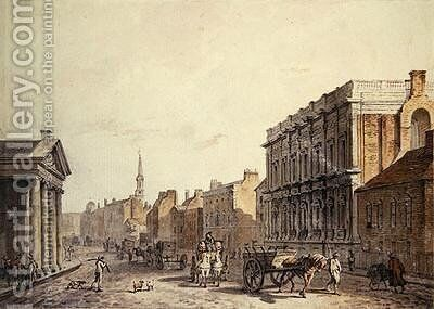 View of Whitehall looking towards Charing Cross 1790 by James Miller - Reproduction Oil Painting