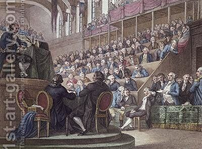 The Trial of Louis XVI 1754-93 before the Convention 26th December 1792 by (after) Miller - Reproduction Oil Painting