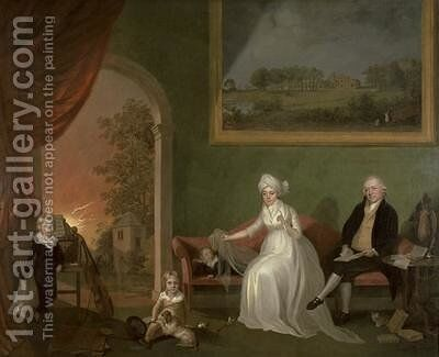 Portrait of Robert Mynors 1739-1806 and his Family 1797 by James Millar - Reproduction Oil Painting