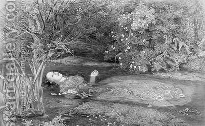Ophelia by (after) Millais, Sir John Everett - Reproduction Oil Painting