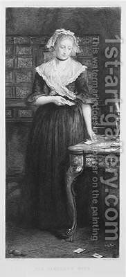 The Gamblers Wife engraved by Charles A Waltner 1846-1925 by (after) Millais, Sir John Everett - Reproduction Oil Painting