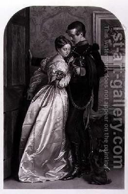 The Black Brunswicker by (after) Millais, Sir John Everett - Reproduction Oil Painting