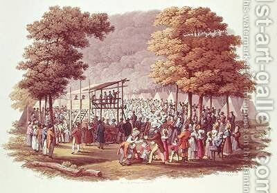 Camp Meeting of the Methodists in North America by (after) Milbert, Jacques - Reproduction Oil Painting