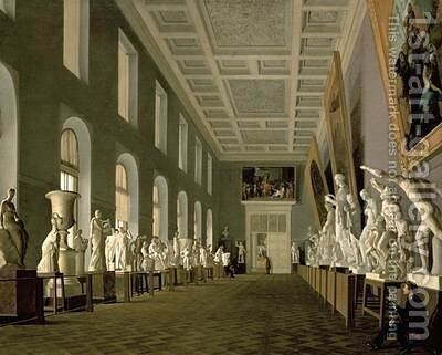 The Antiquities Gallery of the Academy of Fine Arts 1836 by Grigory Mikhailov - Reproduction Oil Painting