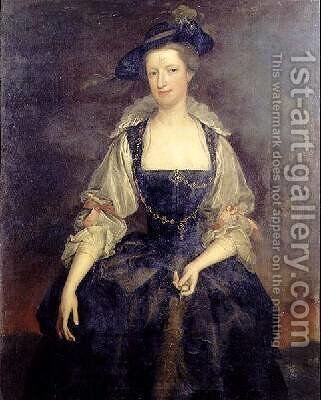 Portrait of Margaret Countess of Orford in a Rubenesque Costume by Heroman Van Der Mijn - Reproduction Oil Painting