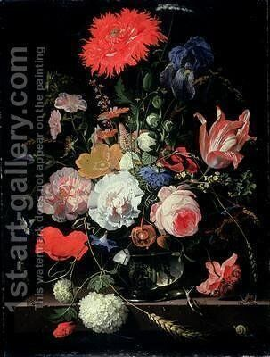 Flower piece by Abraham Mignon - Reproduction Oil Painting