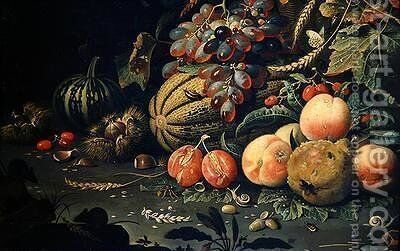Fruit by Abraham Mignon - Reproduction Oil Painting