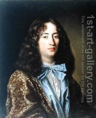 Portrait of a Young Gentleman by Pierre Mignard - Reproduction Oil Painting
