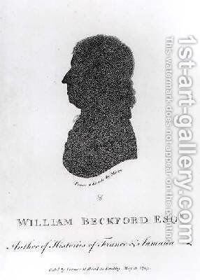 William Beckford Esq d1799 Author of Histories of France and Jamaica from a shade by (after) Miers, John - Reproduction Oil Painting