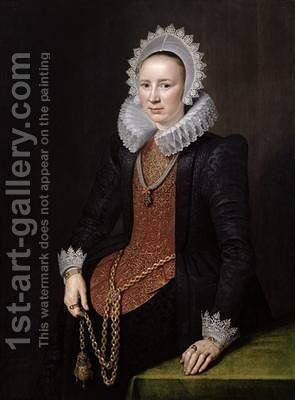 Portrait of a Lady aged 29 1615 by Michiel Jansz. van Miereveld - Reproduction Oil Painting