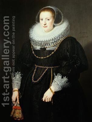 Portrait of a Girl aged 18 by Michiel Jansz. van Miereveld - Reproduction Oil Painting