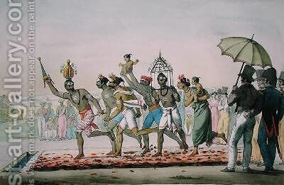 Fire walking festival India from LInde Francaise by (after) Midy, Emmanuel Adolphe - Reproduction Oil Painting
