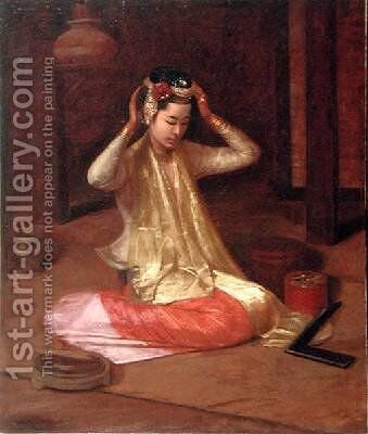 A Burmese Dancer 1920 by James Raeburn Middleton - Reproduction Oil Painting