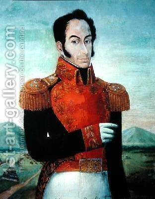 Simon Bolivar 1783-1830 by Arturo Michelena - Reproduction Oil Painting