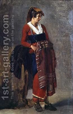 Peasant from the Outskirts of Rome 1818-21 by Achille-Etna Michallon - Reproduction Oil Painting