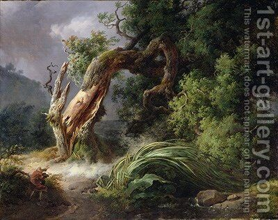The Oak and the Reed 1816 by Achille-Etna Michallon - Reproduction Oil Painting
