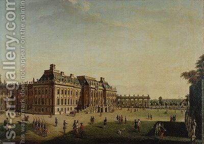 The garden front of the town castle 1773 by Johann Friedrich Meyer - Reproduction Oil Painting