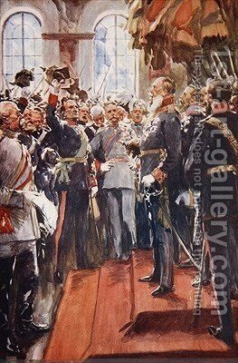 Long Live his Imperial Majesty Emperor William I illustration from A History of Germany by A.C. Michael - Reproduction Oil Painting