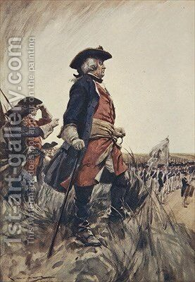 Frederick the Great illustration from A History of Germany by A.C. Michael - Reproduction Oil Painting