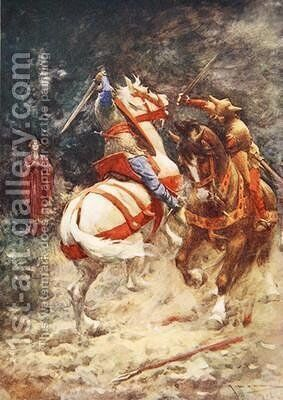 The Knight of the Swan by A.C. Michael - Reproduction Oil Painting