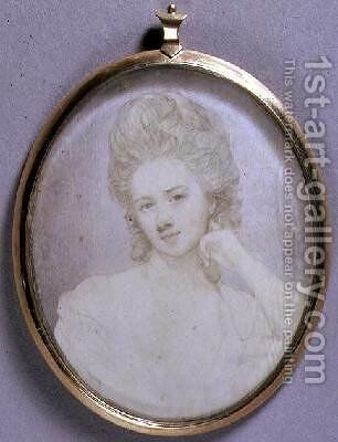 Portrait Miniature of Georgiana Duchess of Devonshire 1775 by Jeremiah Meyer - Reproduction Oil Painting