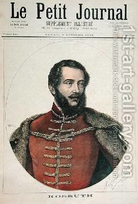 Portrait of Lajos Kossuth 1802-94 from the front cover of Le Petit Journal 8th October 1892 by Henri Meyer - Reproduction Oil Painting