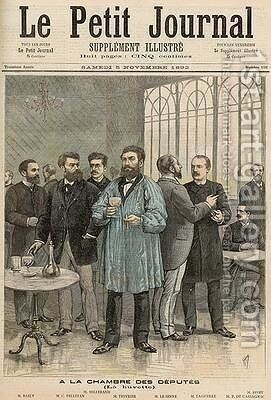 The Chamber of Deputies The Refreshment Room from Le Petit Journal 5th November 1892 by Henri Meyer - Reproduction Oil Painting