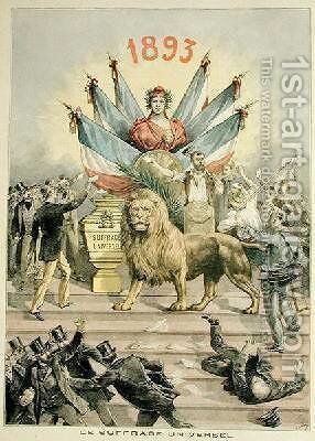 Universal Suffrage illustration from the supplement of Le Petit Journal 19th August 1893 by Henri Meyer - Reproduction Oil Painting