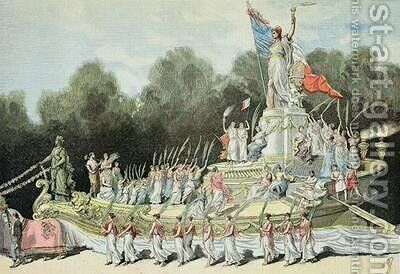 Chariot of the Triumph of the Republic at the National Festival, 22nd September 1892 from Le Petit Journal 24th September 1892 by Henri Meyer - Reproduction Oil Painting