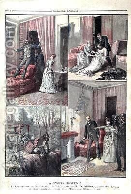 The Gouffe Mystery illustrations from Le Petit Journal 20th December 1890 by Henri Meyer - Reproduction Oil Painting