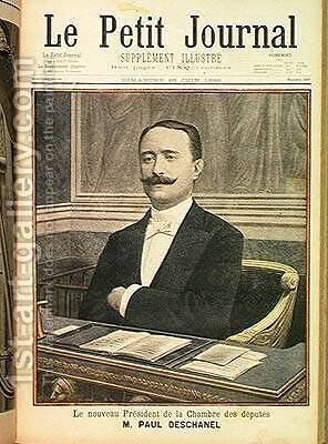 The New President of the Chamber of Deputies Paul Deschanel 1855-1922 from Le Petit Journal 26th June 1898 by Henri Meyer - Reproduction Oil Painting